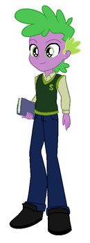 Spike as a human by WesleyAbram