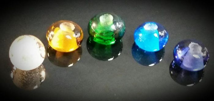 5 Rainbow Beads by Ranasp