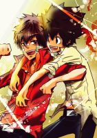 happy moment of tsuna and enma by NaLuo8