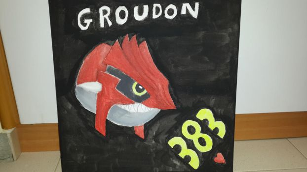 Groudon on Canvas by CHARIZARD205