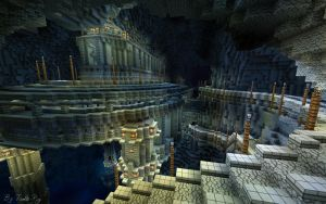 Minecraft Build 2 - Cavern City by haikuo