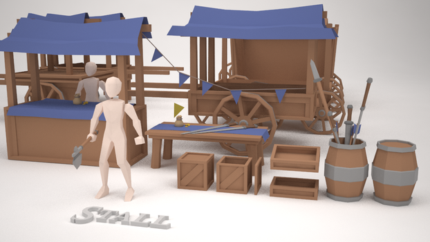 Low Poly Assets - Stall 2 by MacLellan