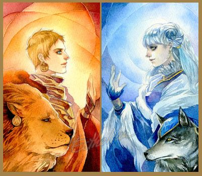 The Sun and The Moon by Ecthelian