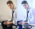 Blue action by missrocketqueen