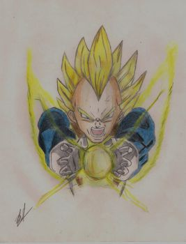 Super Vegeta Final Flash by Husky112