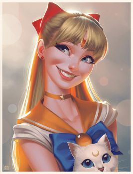 Sailor Venus Steps by lenadrofranci