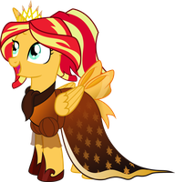 Princess Sunset Shimmer: Gala Dress by TheShadowStone