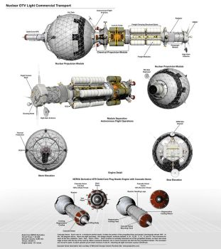 Nuclear OTV Commercial Transport Diagram by William-Black