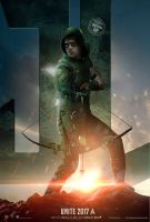 Green Arrow Justice League Poster by Bryanzap