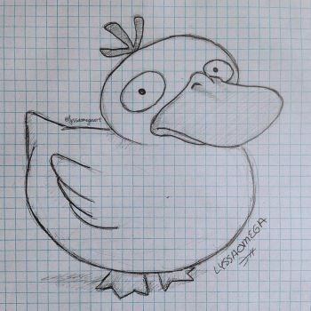 Psyduck, but duck shaped. by LyssaOmega