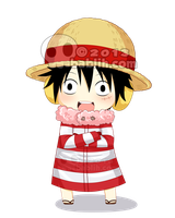 Chibi Luffy by bablih