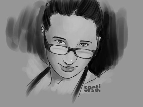 Santi's drawing me by puffoletta