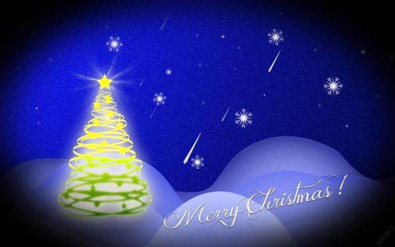 Christmas wallpaper by tivens