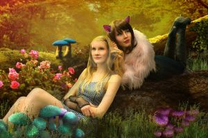 Alice and the cat by SarahFuenke