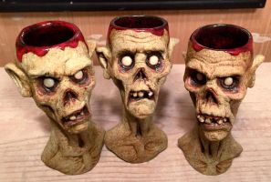 Zombie Shot glasses by thebigduluth
