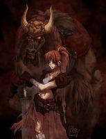 Dark Beauty and the Beast by spacecoyote