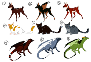 Adoptables Set 1 by Susiron