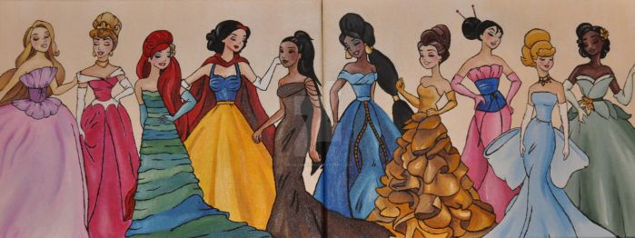 Disney Princesses: Designer by beckysmithh