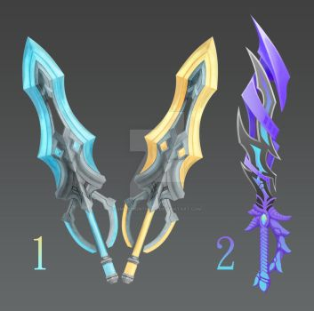 [Closed] Dual Sword and Short Sword by smiledidnthurt