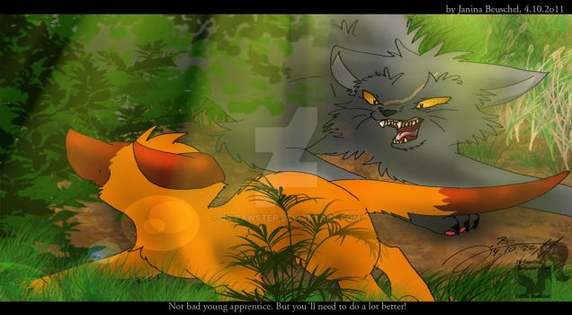 Into the Wild - Easy Prey for Yellowfang by JB-Pawstep