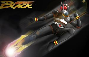 Kamen Rider Black by Hellnan