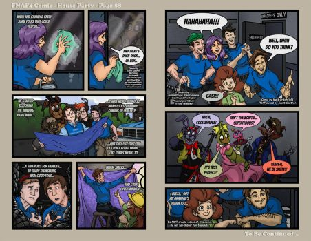 FNAF4 Comic - House Party - Page 88 - 8-30-17 by Mattartist25