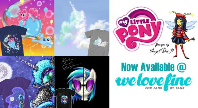 My Official My Little Pony Designs @ WeLoveFine! by AngelBee23