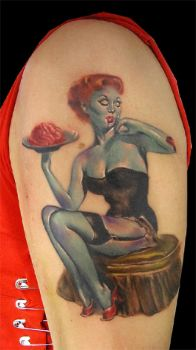 pin up zombie by bhbettie