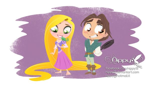 Rapunzel and her prince by Nippy13