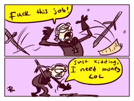 The Witcher 3, doodles 98 by Ayej