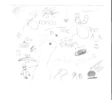 Random Drawings. :D by CourtEatsYourFries