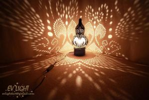 BLACKUAN gourd lamp night II by EvaLightArt