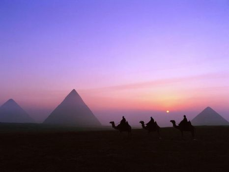 pyramids in egypt by heshamahmed