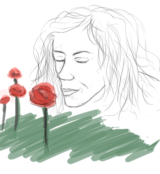 woman and flower by Lixzia
