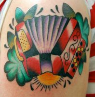 accordian tattoo by sethdavidson
