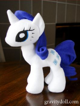 Rarity Plush Commission 2 by BrokenPuppet