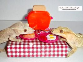 BREAKFAST FOR THE GECKOS 2 by Heather-Chrysalis