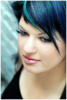 the girl with the blue hair by mental