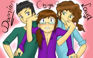 Damian, Chiga and Laud by LionessJess