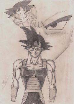 Bardock and son by Husky112