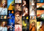 Portfolium - Post Processing Photoshop Action by GraphicAssets