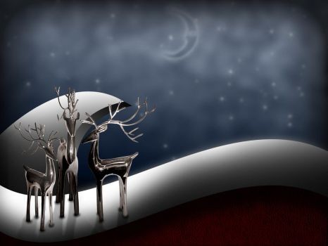 Holiday Chrome Reindeer by Quistwm