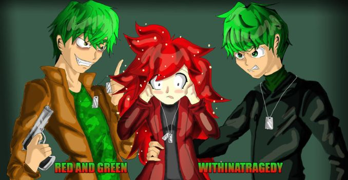Red and Green by WithinATragedy