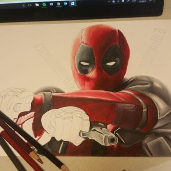 Deadpool WIP by spikeandshay