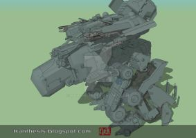 Concept Mecha Final -weapon ON- by Kanthesis