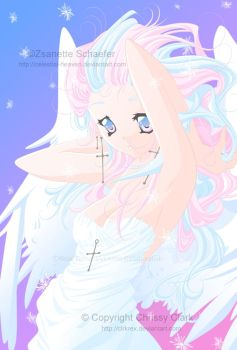 Collab-Candy Floss Angel by clrkrex