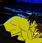 Cole and Asis - Moonlight Kiss by iPandaDrawer