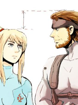 Snake and Samus by minake2020