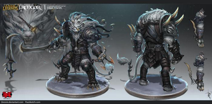 Rengar Official Concept Art by Zeronis
