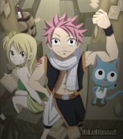 Lucy, Natsu and Happy by HikaHitmanR